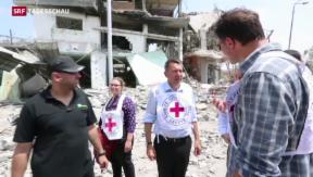 Video «Im Gazastreifen hält die Waffenruhe» abspielen