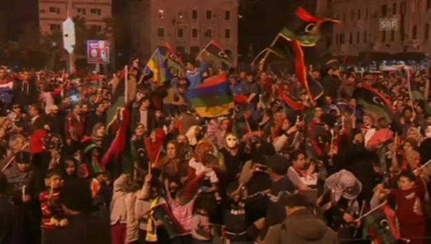 Video «Libyen feiert Gaddafis dritten Todestag» abspielen