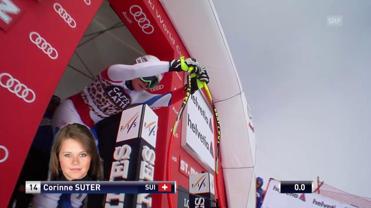 Corinne Suter fährt zum Abschluss auf Rang 8