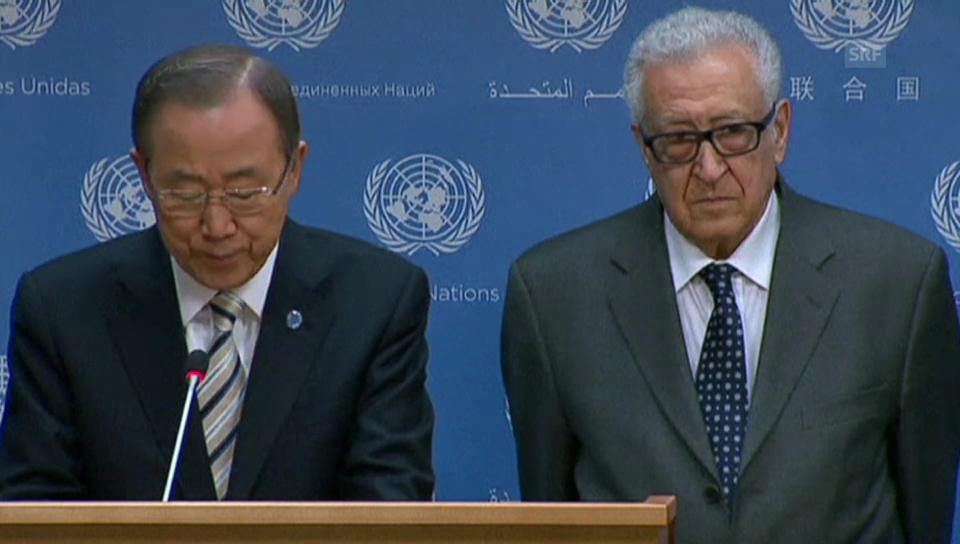 Ban über den Rücktritt von Brahimi (englisch)