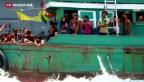 Video «Thailand schickt erneut Flüchtlinge aufs Meer zurück» abspielen