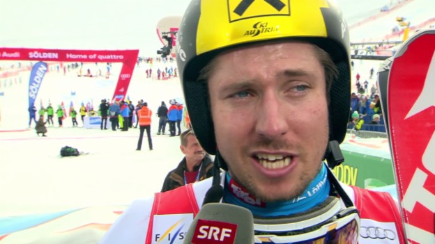 Video «Ski alpin: RS M Sölden, Marcel Hirscher im Interview» abspielen