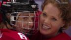 Video «Eishockey: Studiogast Florence Schelling, Teil 1» abspielen