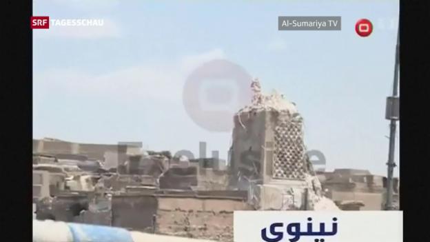 Video «Mossuls bekannteste Moschee zerstört» abspielen