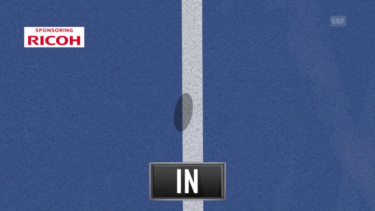 Tennis: Swiss Indoors, Final Federer - Nadal, letztes Game