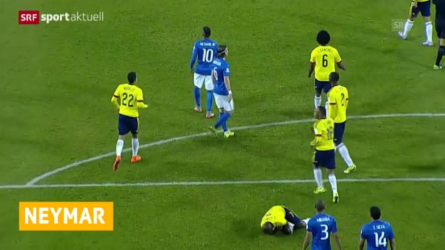 Video «Fussball: Brasilien, Neymar» abspielen