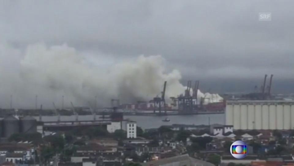 Giftige Gaswolke über brasilianischem Hafen (portugiesisch)