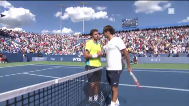 Video «ATP Cincinnati 2012: Federer - Wawrinka» abspielen