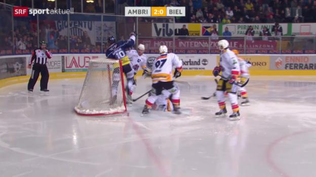 Video «Eishockey: NLA, Ambri-Biel» abspielen