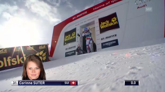 Video «Ski: Die Fahrt von Corinne Suter» abspielen