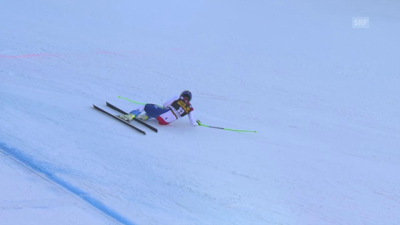 Ski Alpin, Weltcup Männer, Abfahrt Gröden, Ausfall Weber