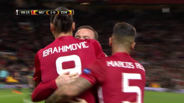 Video «Ibrahimovic rettet ManUnited vor Blamage» abspielen
