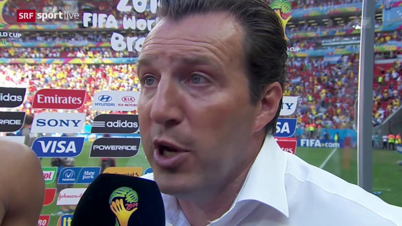 FIFA WM 2014: Argentinien - Belgien: Interview mit Marc Wilmots