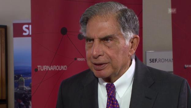 Video «Ratan Tata: «Indien sollte an der Schweiz sehr interessiert sein»» abspielen