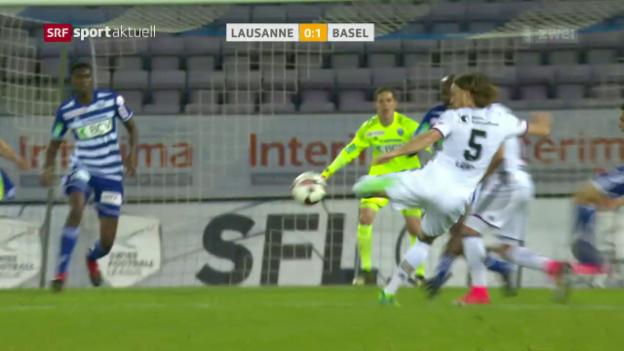 Video «Basel mit klarem Sieg in Lausanne» abspielen