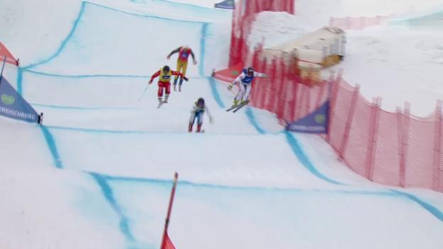 Video «Freestyle-WM in Kreischberg: Skicross der Männer, Achtelfinal mit Marc Bischofberger» abspielen