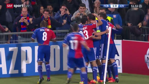 Video «Fussball: Champions League, Basel - Liverpool, Führungstreffer Marco Streller» abspielen