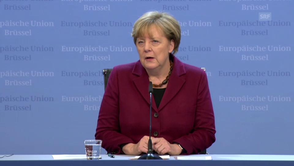 Angela Merkel zum EU-Türkei-Gipfel