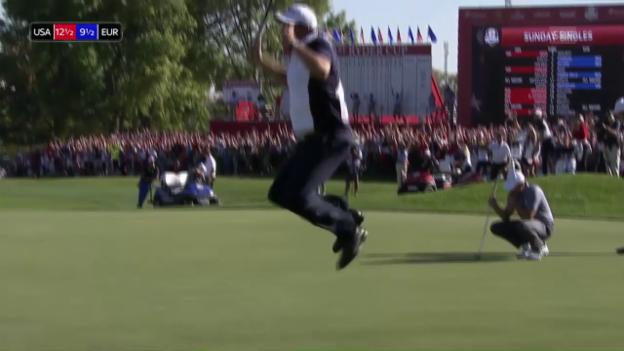 Video «Tolle Stimmung bei der Entscheidung am Ryder Cup» abspielen