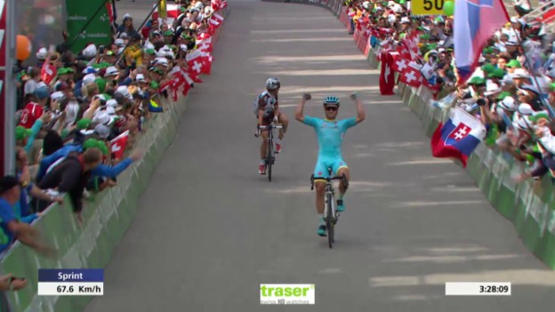 Video «Rad: Tour de Suisse, 8. Etappe, Zielsprint» abspielen