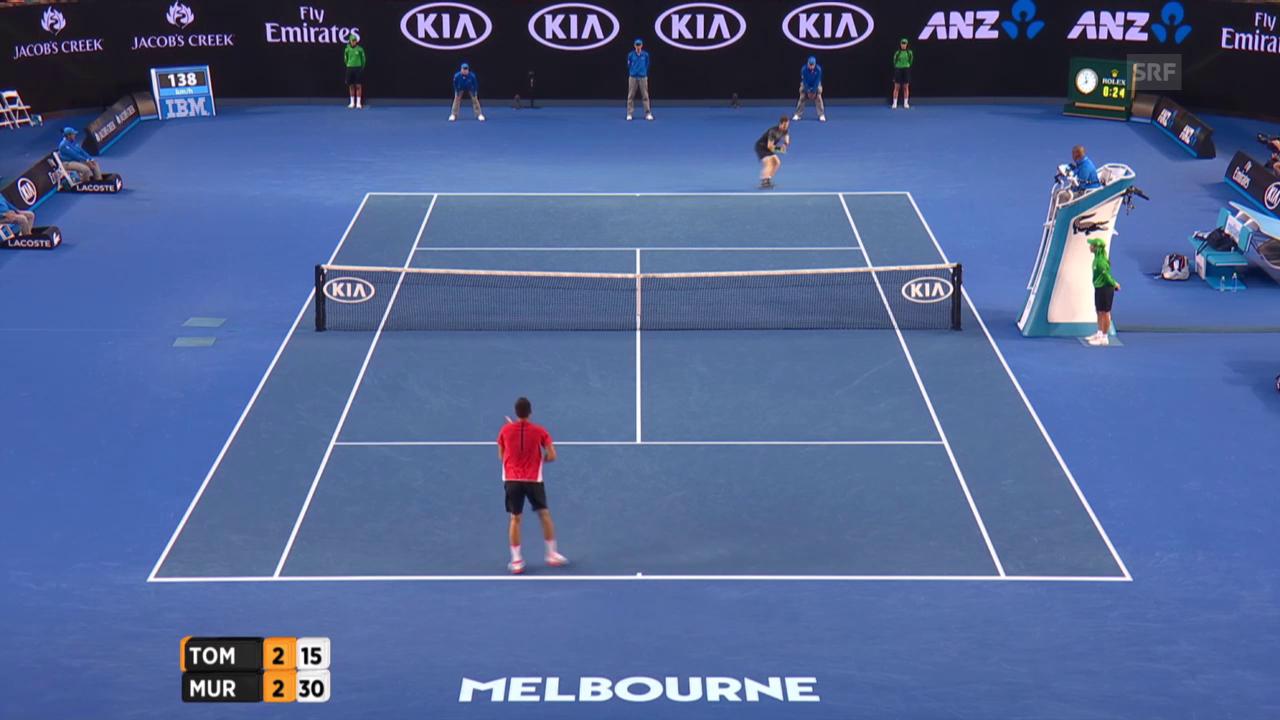 Murray mit tollem Punkt gegen Tomic