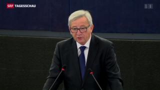 Video «Juncker will neues EU-Massnahmenpaket gegen Flüchtlingskrise » abspielen