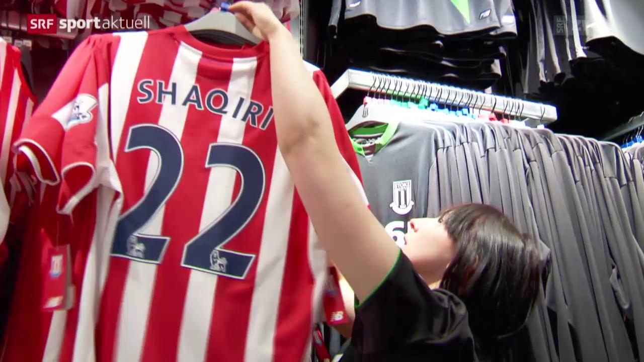 Fussball: Xherdan Shaqiris erste Medienkonferenz bei Stoke City