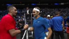 Link öffnet eine Lightbox. Video Federer und Kyrgios bieten eine packende Show abspielen