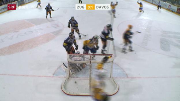 Video «Eishockey: Zug - Davos» abspielen