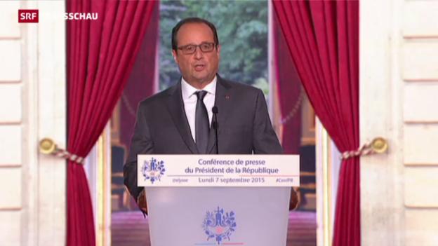 Video «Hollande will das Übel an der Wurzel packen» abspielen