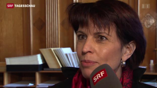 Video «Doris Leuthard wehrt Forderungen ab» abspielen