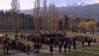 Video «Gedenkfeier mit Opferfamilien und Rettungskräften in Siders» abspielen