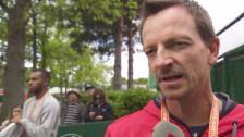 Video «Bacsinszky-Coach Zavialoff vor dem Halbfinal (franz.)» abspielen