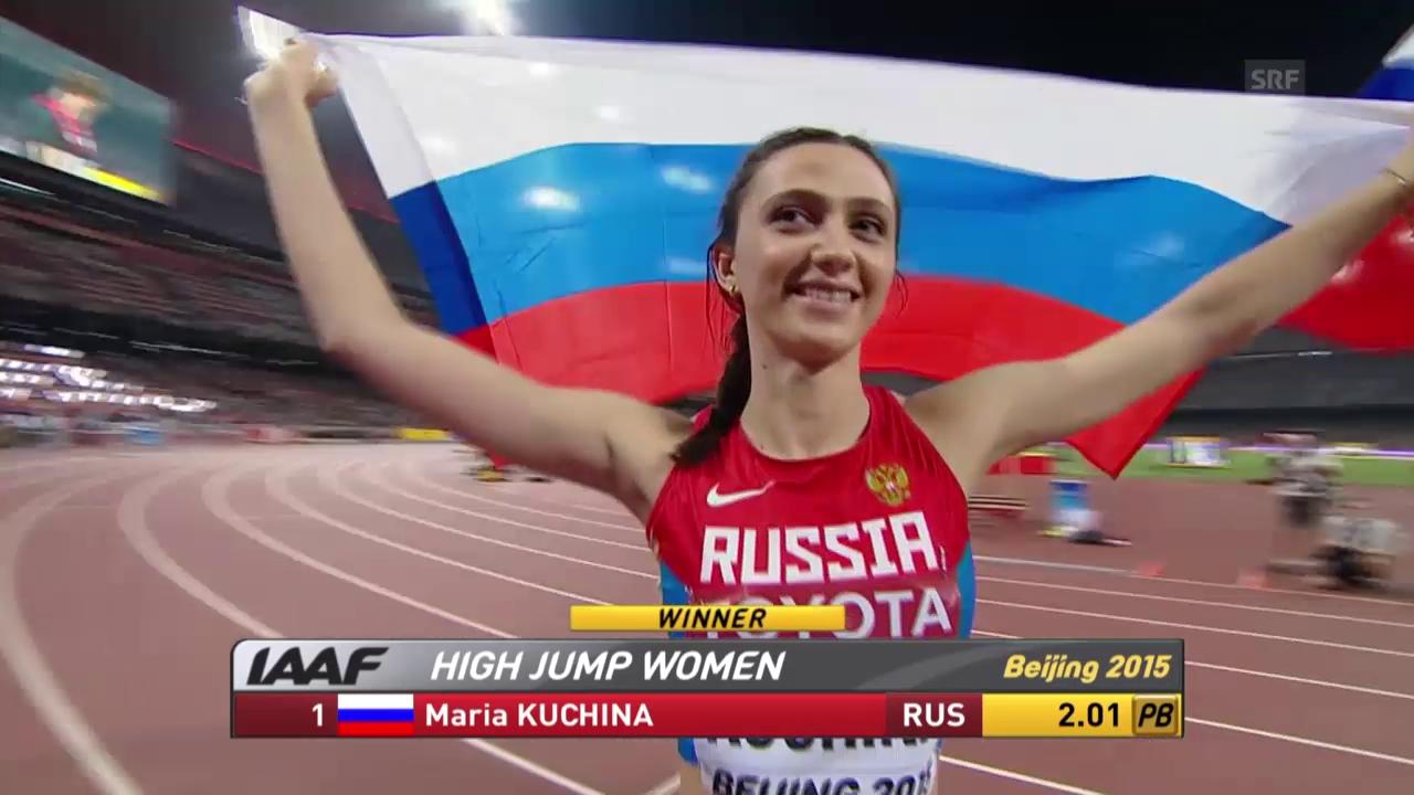 Leichtathletik: WM in Peking, Entscheidung Hochsprung Frauen, Sieg Kutschina