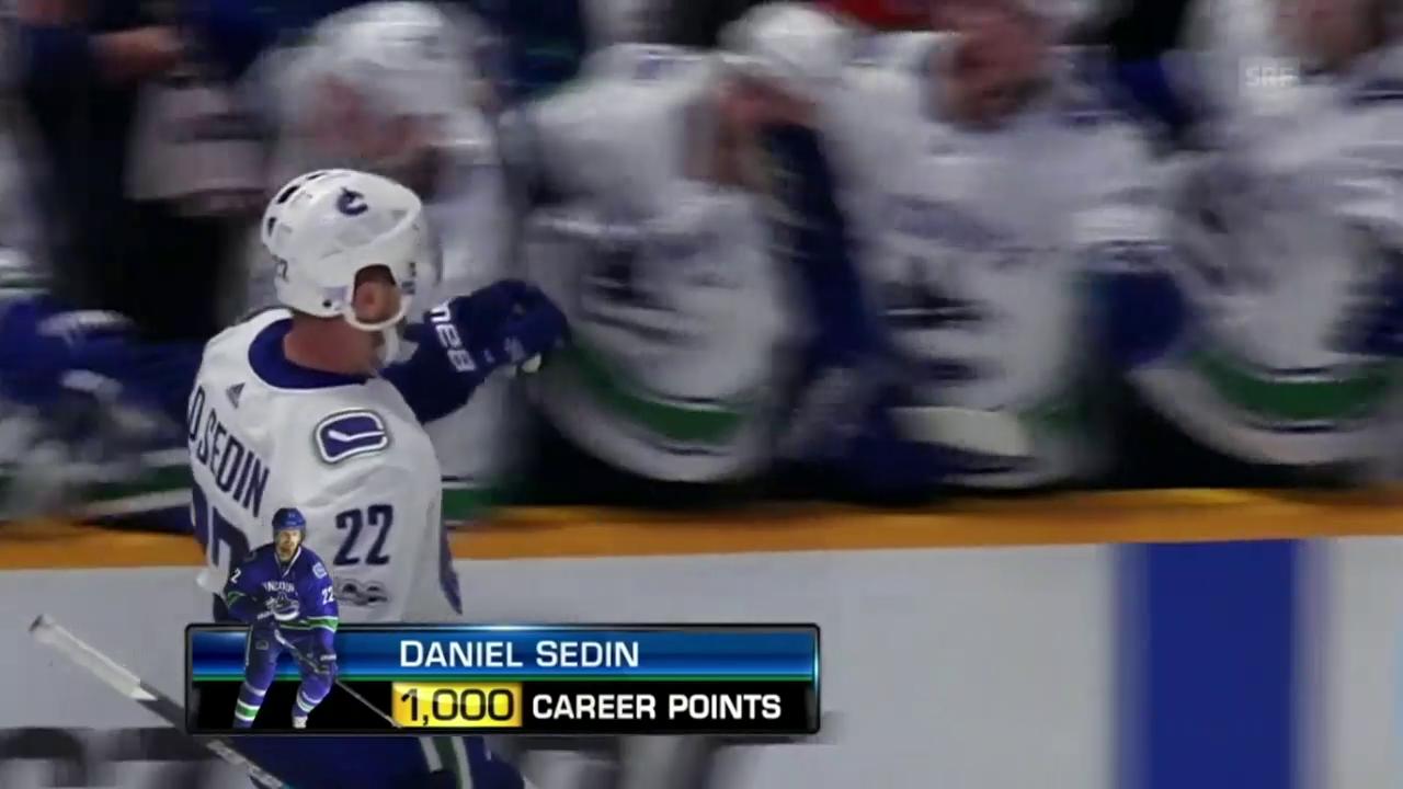 Die NHL-Punkte 999 und 1000 von Daniel Sedin