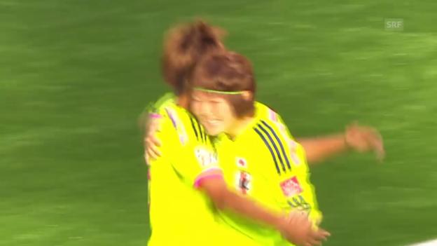 Video «Fussball: Frauen-WM, Highlights Japan - Kamerun» abspielen