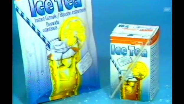Video «Erster Eistee-Spot im Coop Kochstudio im Jahr 1983» abspielen