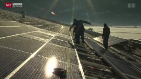 Video «Schlussspurt  für Solaranlagen» abspielen