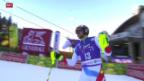 Video «Yule glänzt im Slalom von Santa Caterina - Hirscher gewinnt» abspielen
