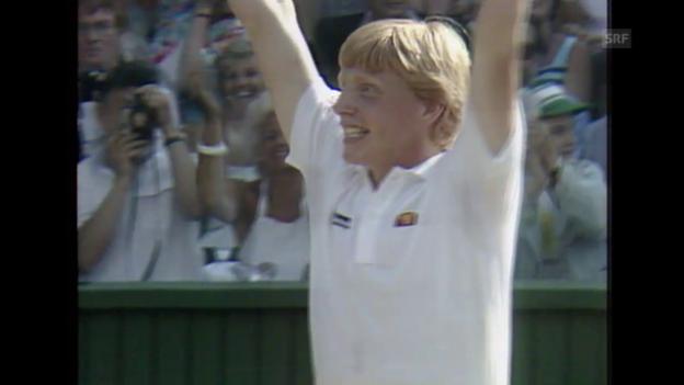 Video «Tennis: Wimbledon, Becker macht sich unsterblich» abspielen