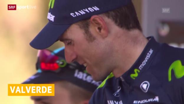 Video «Radsport, Flèche Wallonne: Valverde siegt» abspielen
