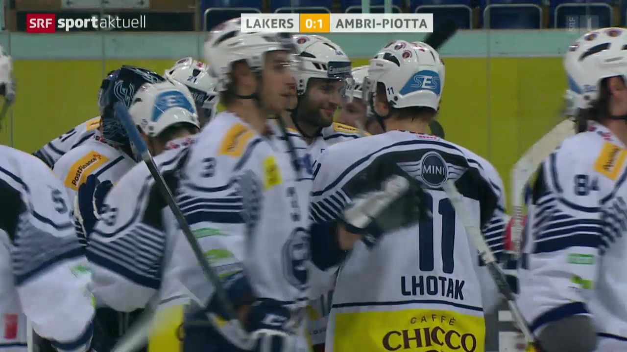 Eishockey: NLA, Lakers - Ambri
