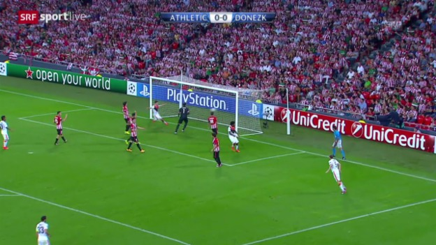 Video «Fussball: Champions League Gruppenphase, Athletic Bilbao - Schachtar Donezk» abspielen