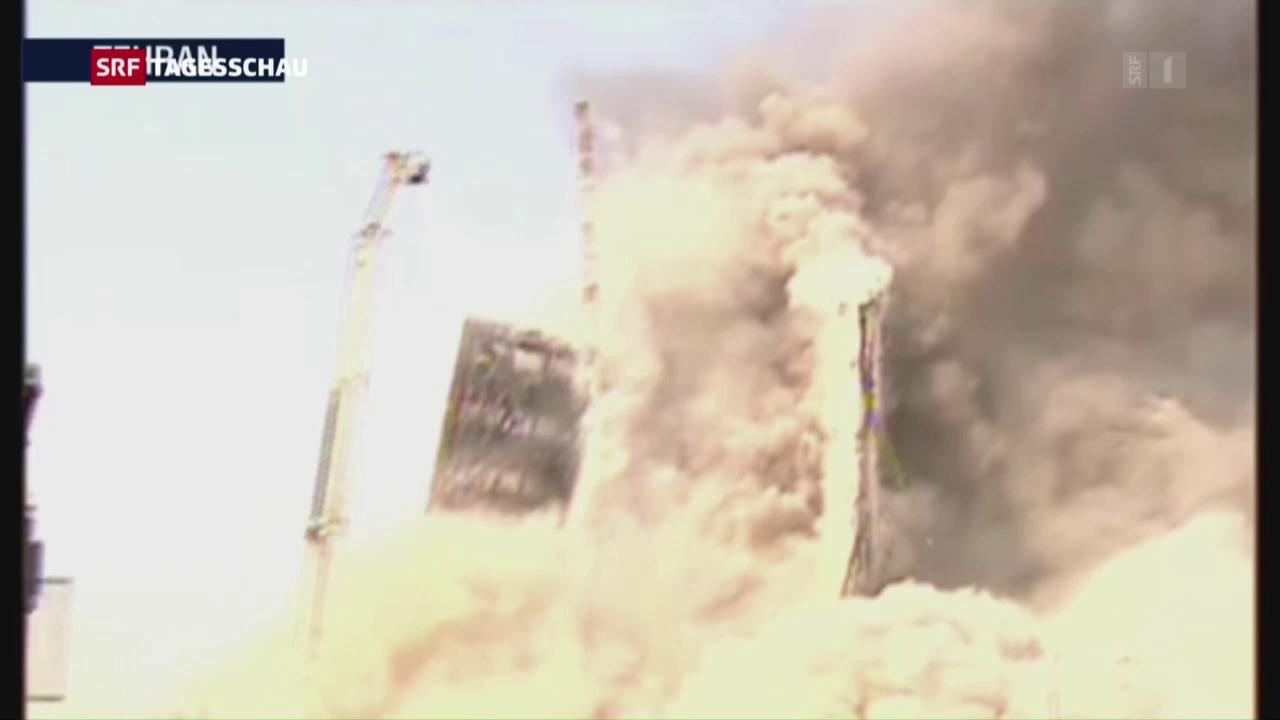 Hochhausbrand in Teheran
