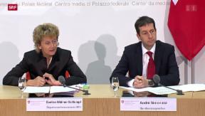 Video «Bundesrat zeigt sich erleichtert nach CS-Deal mit den USA» abspielen