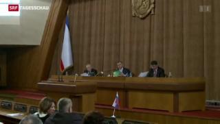 Video «Krim setzt Unabhängigkeit um» abspielen