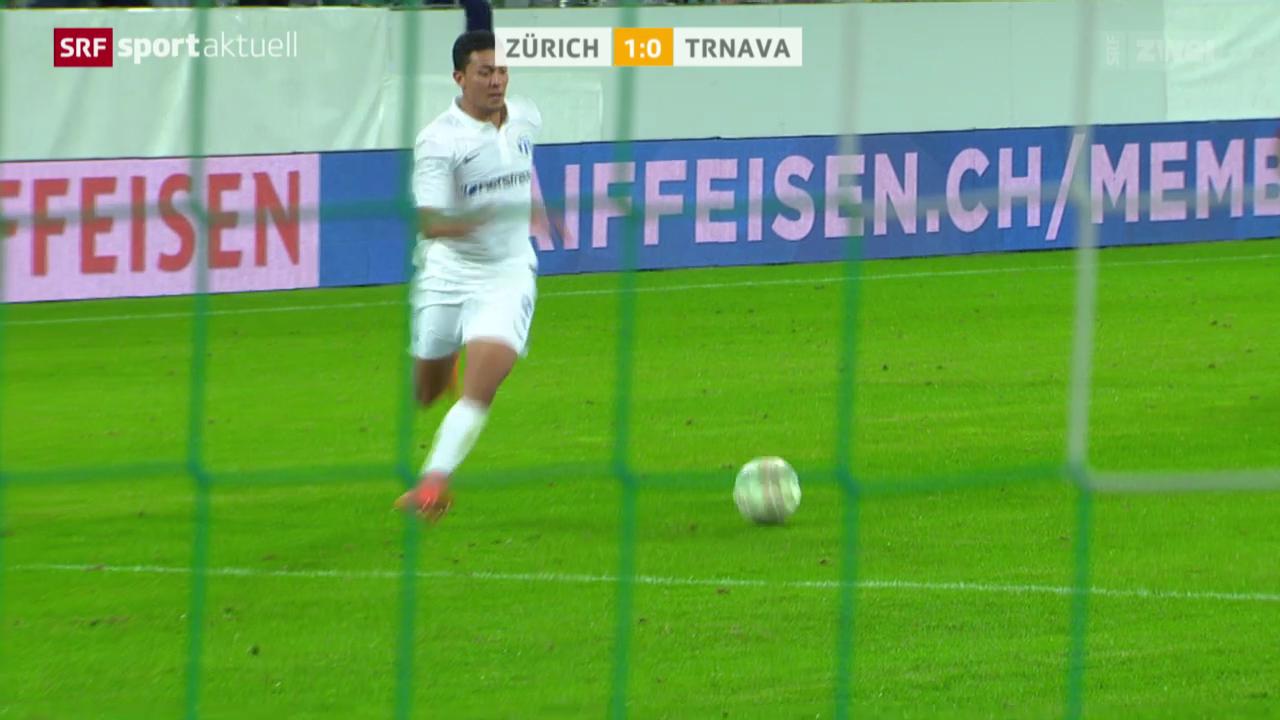 Fussball: Zürich - Trnava