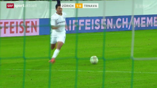 Video «Fussball: Zürich - Trnava» abspielen