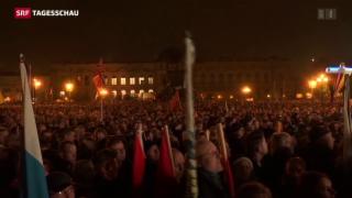 Video «Pegida feiert sich selbst» abspielen