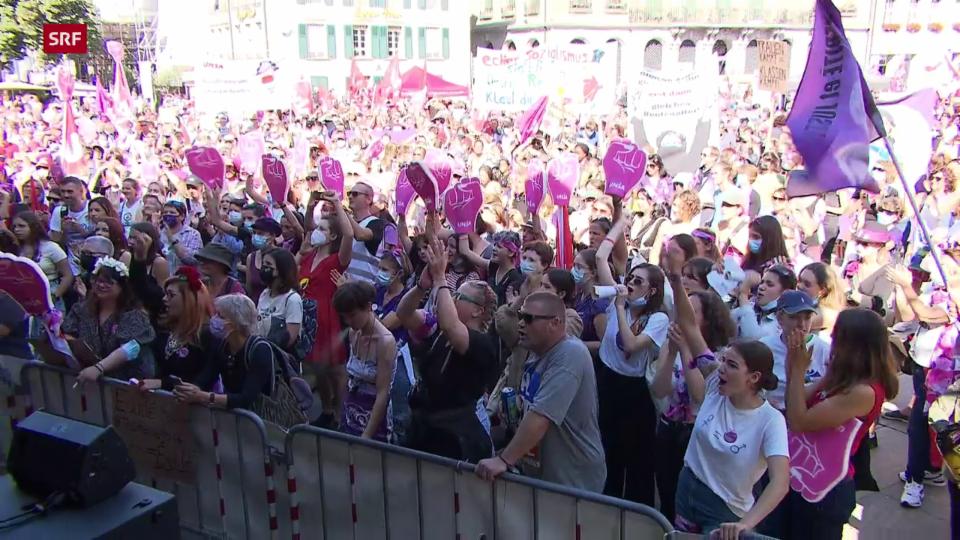 Die Bilder der Renten-Demo in Bern
